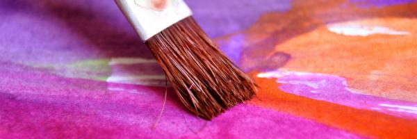 Paintbrush on canvas